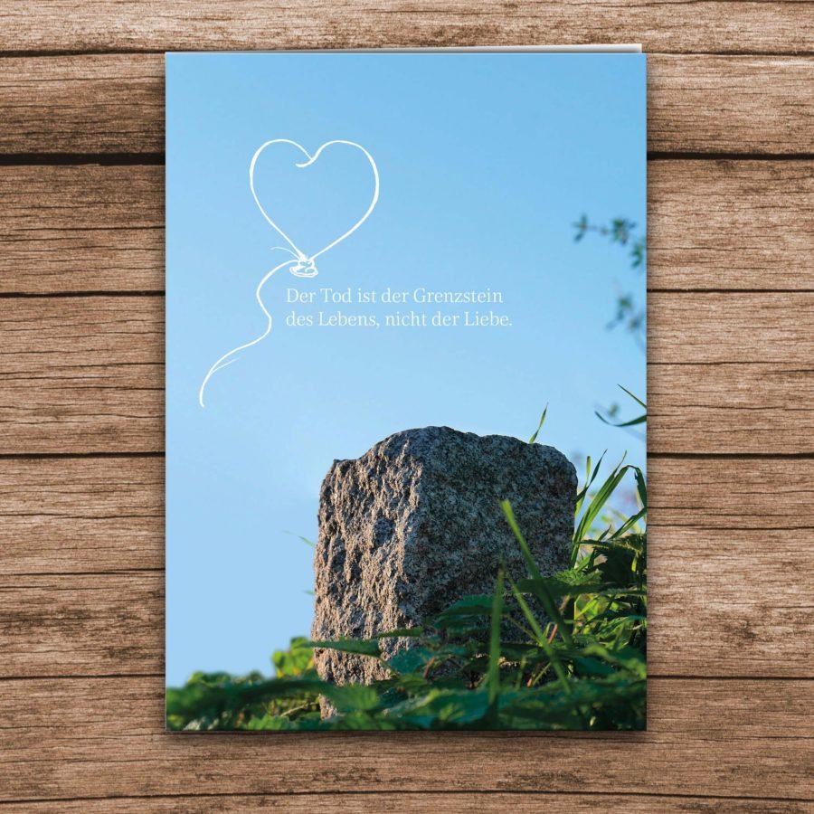 Trauerkarte Liebe Grenzstein