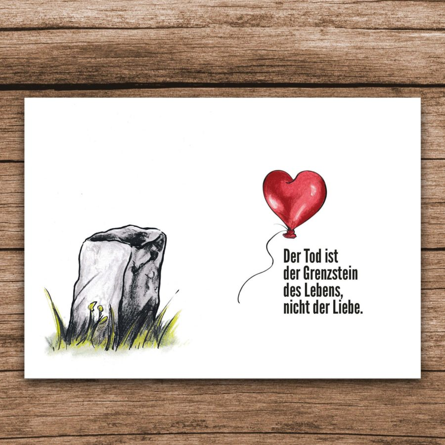 Trauerkarte Luftballon