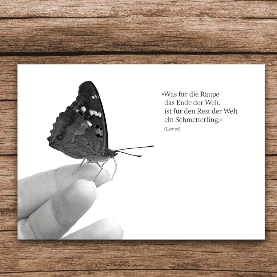Trauerkarte Schmetterling - Vorderseite